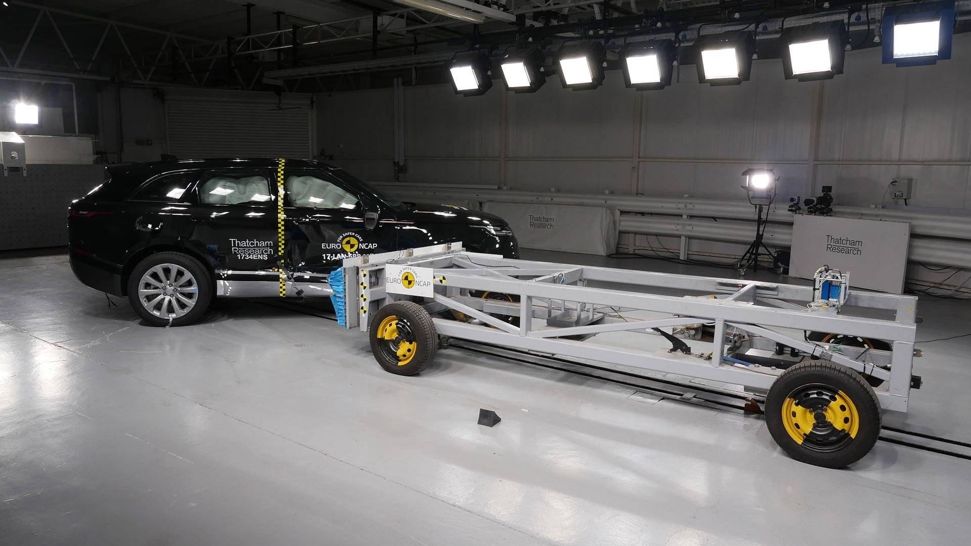We Helped Crash A Range Rover Velar In The Name Of Science - Range rover repair shop