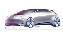 Teaser du concept Volkswagen électrique