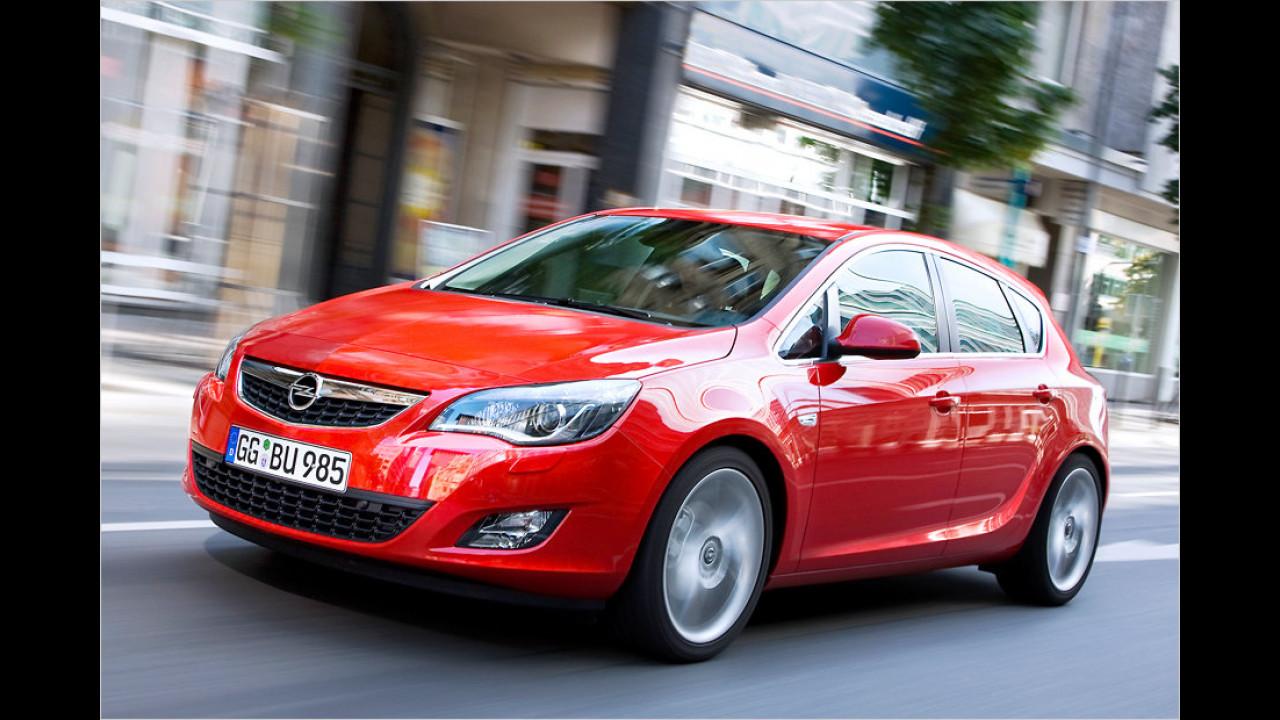 VW Golf gegen Opel Astra gegen Ford Focus