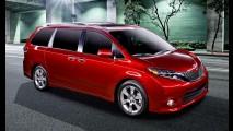 Toyota retoca visual e deixa minivan Sienna 2015 mais equipada nos EUA