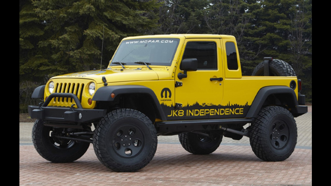 Jeep pode lançar versão picape do Wranlger nos próximos anos