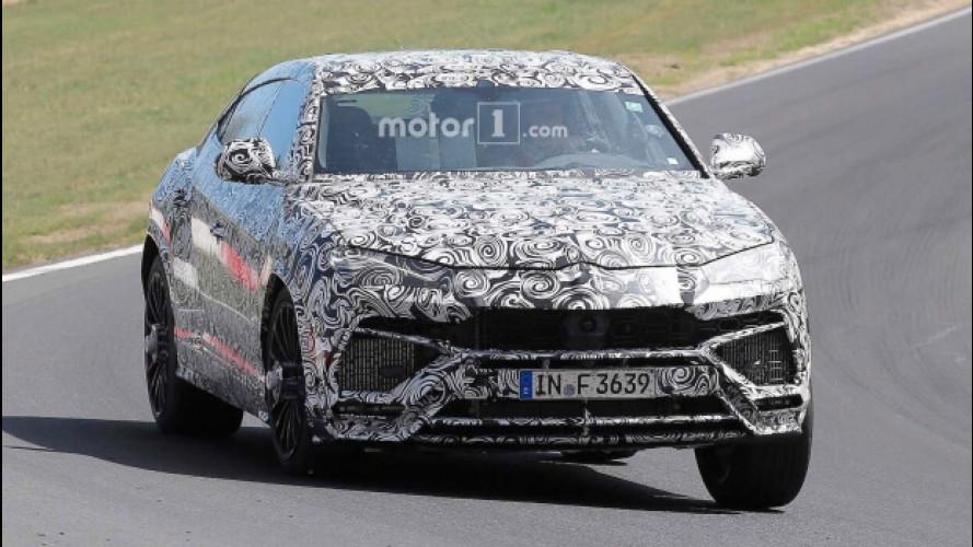 Lamborghini Urus, l'urlo del prototipo al Nurburgring [VIDEO]