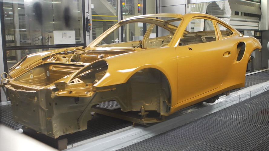 Check Out How The Porsche 911 Turbo S Exclusive Series Goes Gold