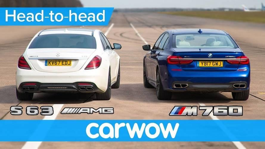 Mercedes-AMG S63 ve BMW M760'ın drag yarışını izleyin