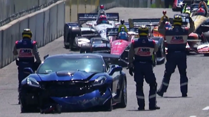 GM Exec Says Sorry For Crashing Corvette ZR1 Before IndyCar Race