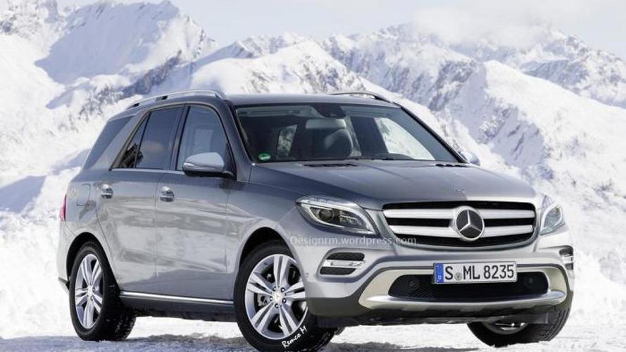 2015 Mercedes M-Class facelift rendered