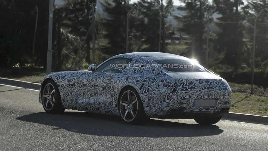 2015 Mercedes-Benz SLC spied with different camo showing a smaller body