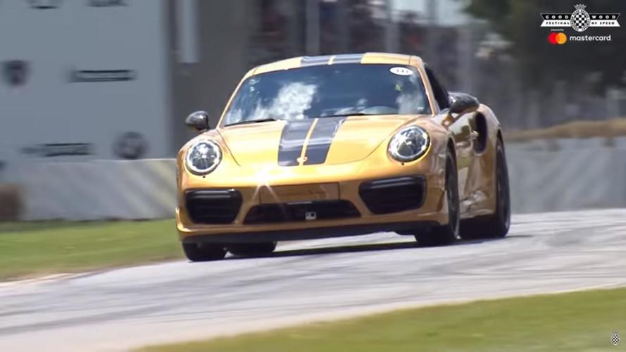 Porsche 911 Turbo S Exclusive Series de Goodwood'daydı