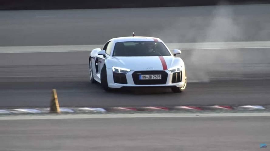 See This Audi R8 RWS Enjoy An Opposite-Lock Dance In Dubai