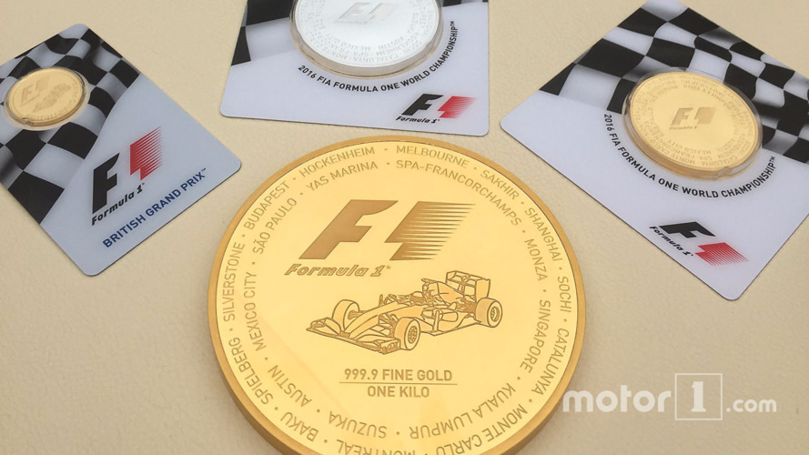 F1 gold coin worth $40,000 launched