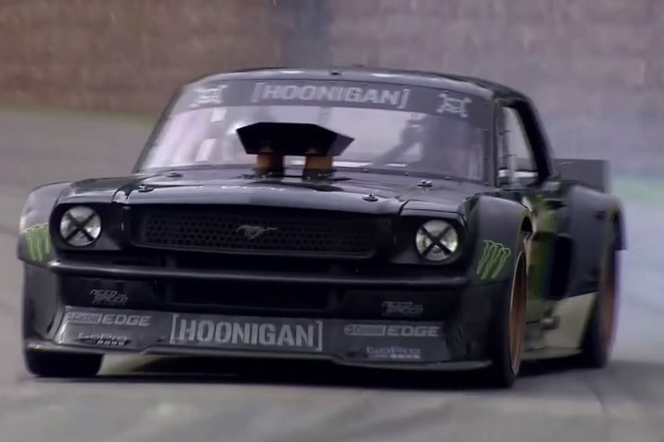 Watch This Insane Mustang Get Away From Ken Block at Goodwood