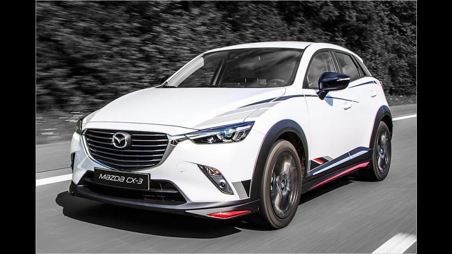 Mazda CX-3: Schick in Schwarz-Rot