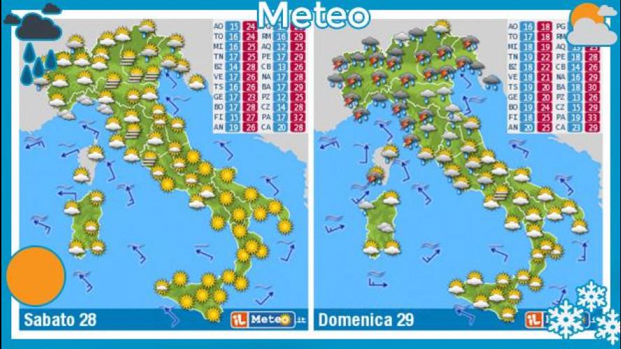 Meteo del fine settimana 28 e 29 settembre: piove al Nord