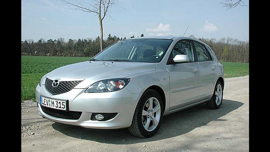 Mazda 3 Sport 1.6: Golf-Schläger kommt in Übergröße