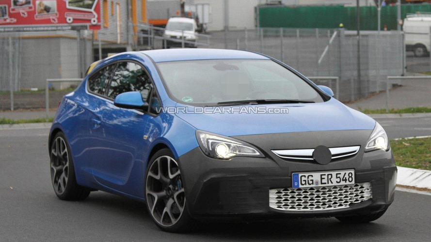 2012 Opel Astra OPC spied with less camo