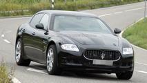 Maserati Quattroporte mule spied testing new engine 05.10.2011