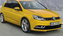 Volkswagen Golf VII speculative rendering 22.08.2012
