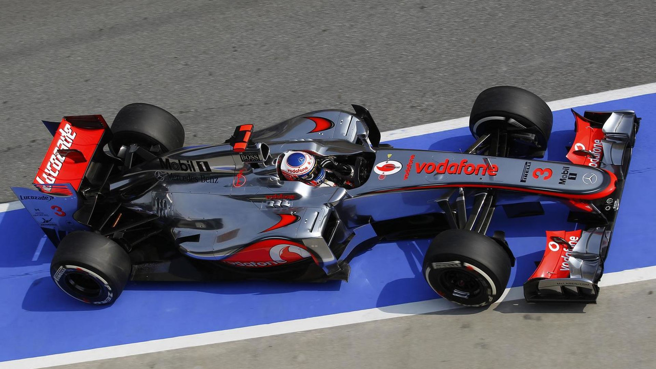 Jenson Button during Malaysian Grand Prix qualifying