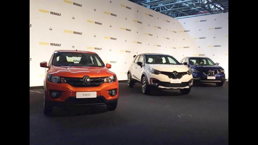 Renault mostra Kwid, Captur e Koleos pela primeira vez no Brasil - veja detalhes