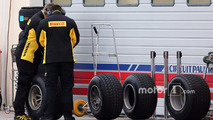 Des techniciens Pirelli