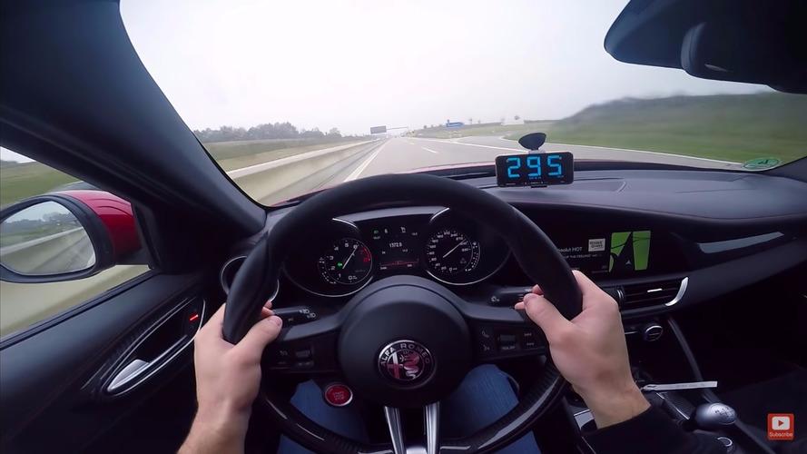 Presque 300 km/h sur autoroute pour l'Alfa Romeo Giulia !