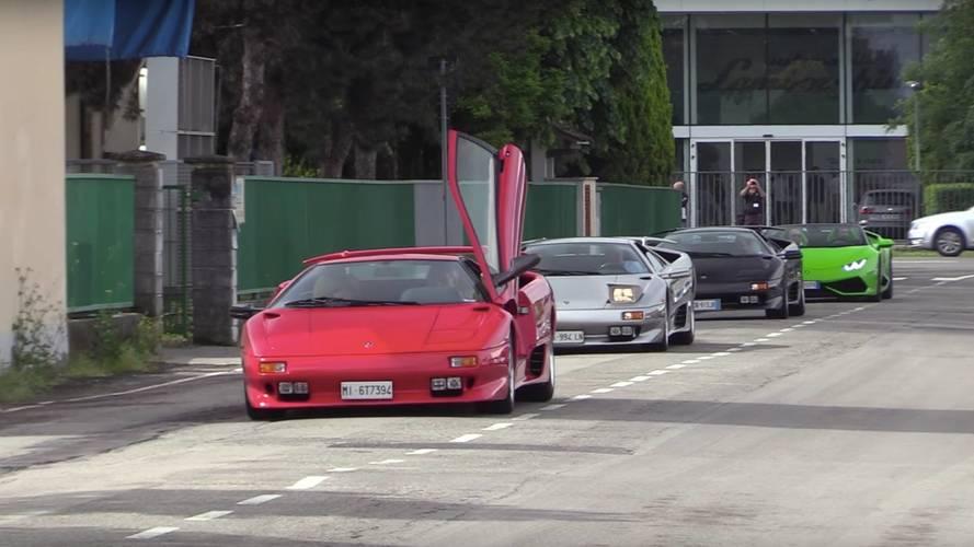 70 Lamborghinis Gather For Valentino Balboni's 50th Anniversary