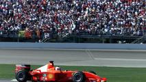 Rubens Barrichello in his Ferrari F2001 race car, 30.09.2001, Indianapolis Grand Prix, USA / XPB