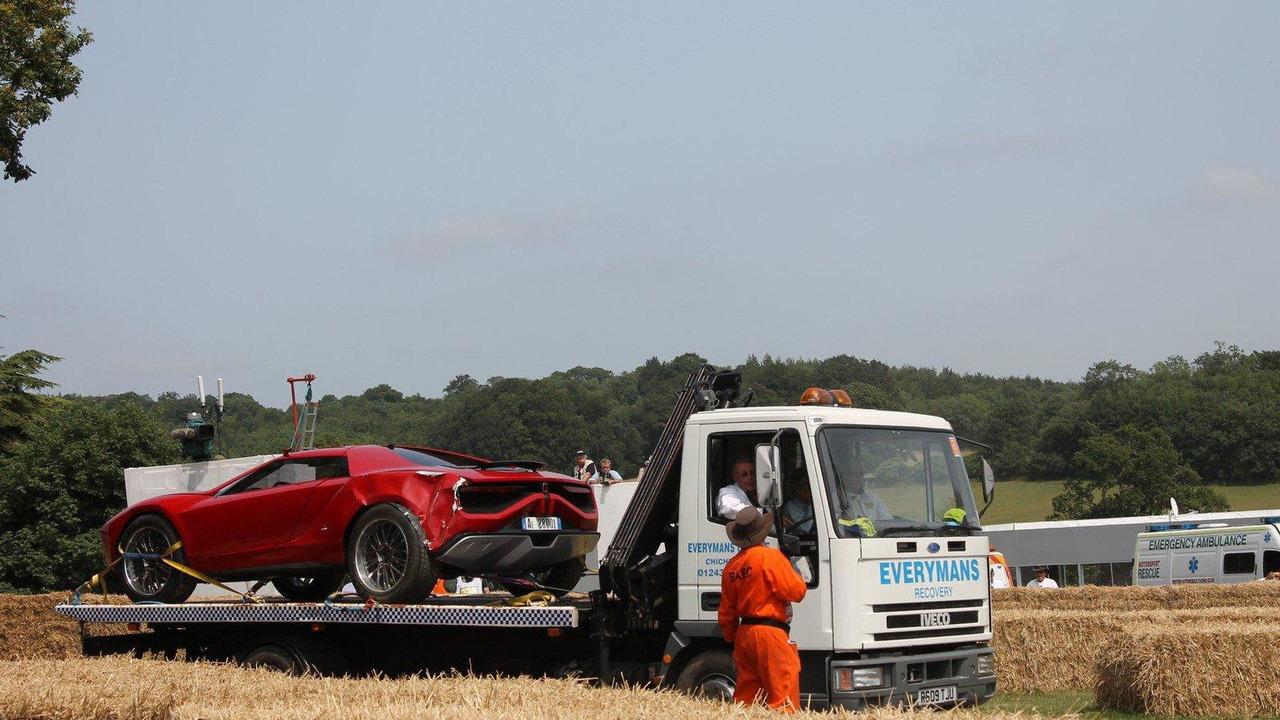 Italdesign Giugiaro Parcour concept crash at Goodwood 15.7.2013