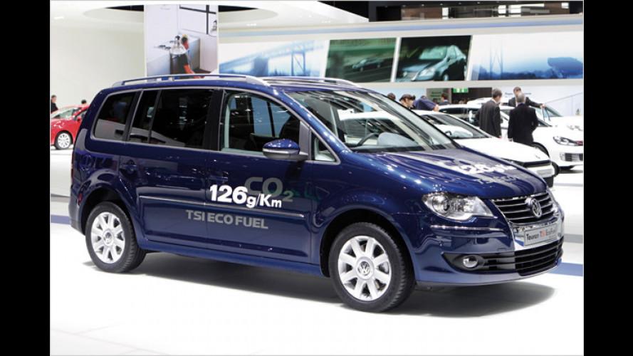 VW Touran TSI EcoFuel: Höhere Reichweite ohne Tankstopp