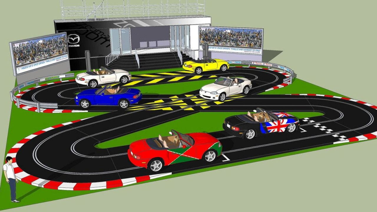 Mazda life-sized Scalextric track at Goodwood FOS illustration 30.06.2010