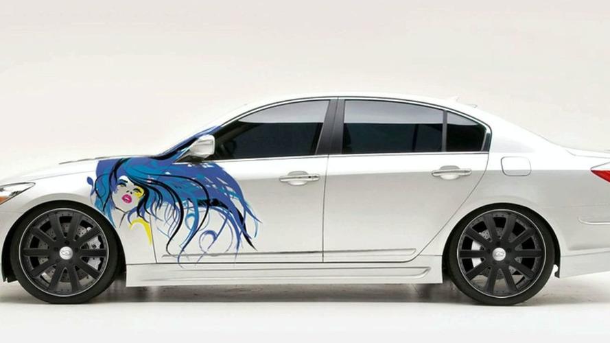 Hyundai Genesis Sedan to Receive Custom Paint Graphic Live at SEMA