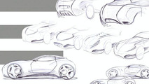 TVR Artemis concept car sketches