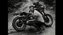 Triumph Bonneville pilotada por David Beckham no Brasil é exposta em SC
