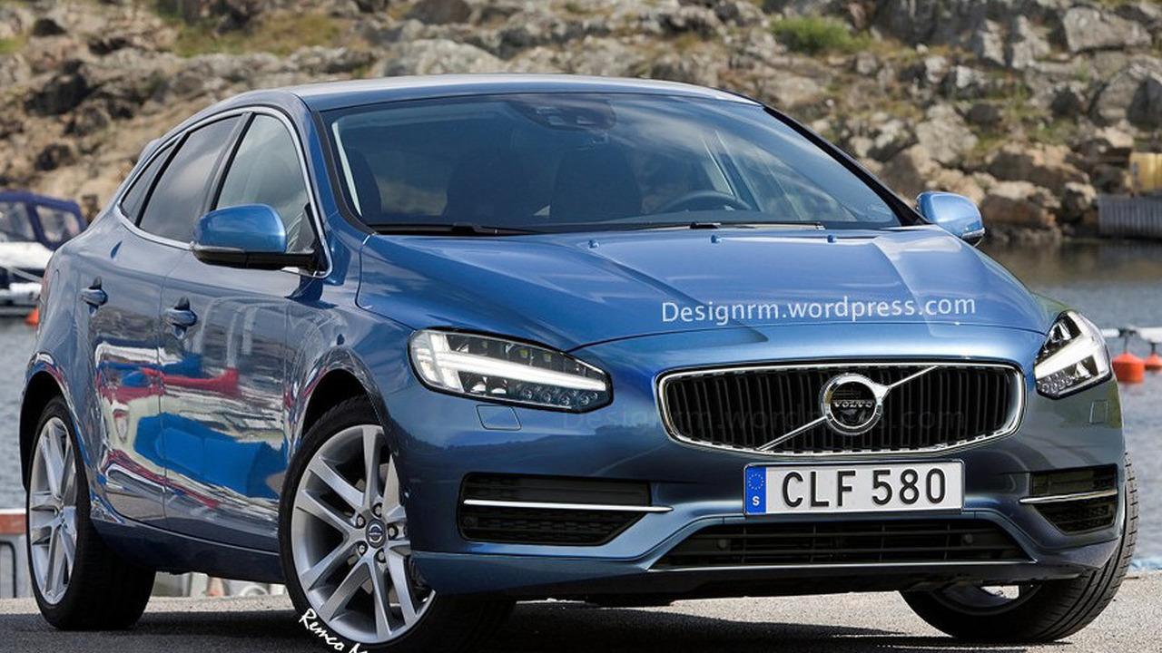 Volvo V40 facelift rendering