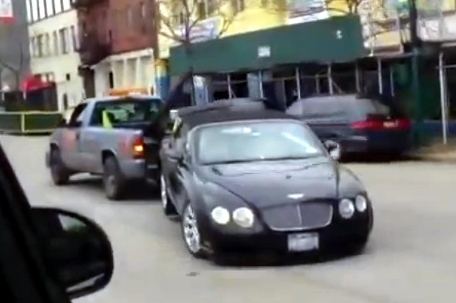 Video: Towed Bentley Gets a Rough Ride