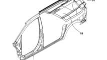 Hyundai gullwing minivan door patent
