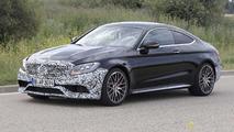 Mercedes-AMG C63 Coupe facelift spy photo