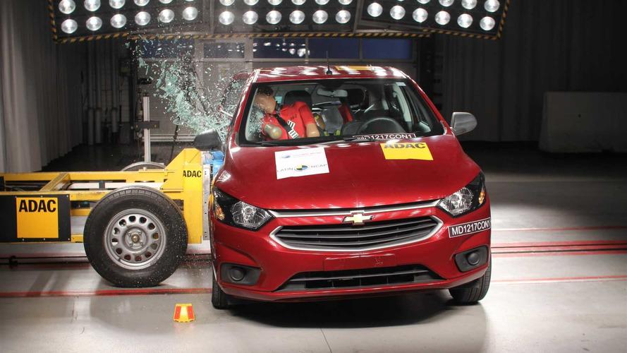 Latin NCAP - Chevrolet Onix leva zero por testes de impacto lateral