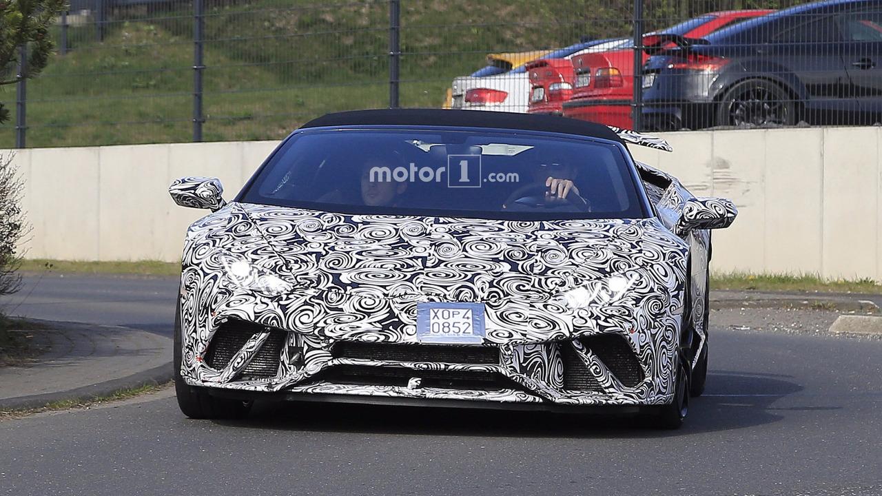 2018 Lamborghini Huracan Performante Spyder spy photo