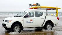 Mitsubishi L200 on UK Beach Patrol
