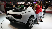 Italdesign Giugiaro Parcour Roadster white at 2013 Geneva Motor Show