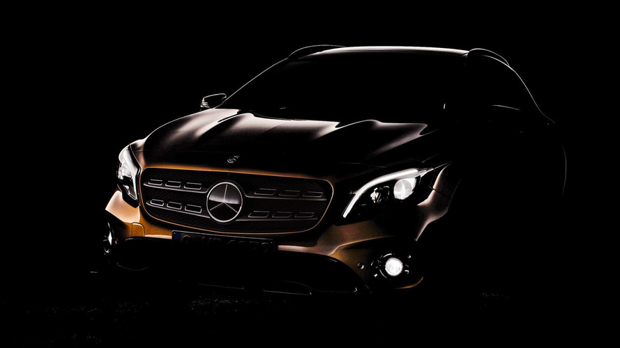 2018 Mercedes GLA facelift teased ahead of Detroit premiere