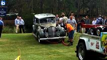 Packard Super Eight in water