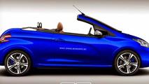 Peugeot 208 GTI CC rendering
