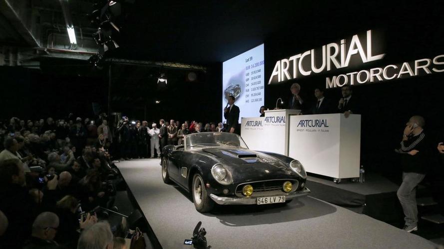 Lost Ferrari 250 SWB California Spyder owned by Alain Delon sells for $19M