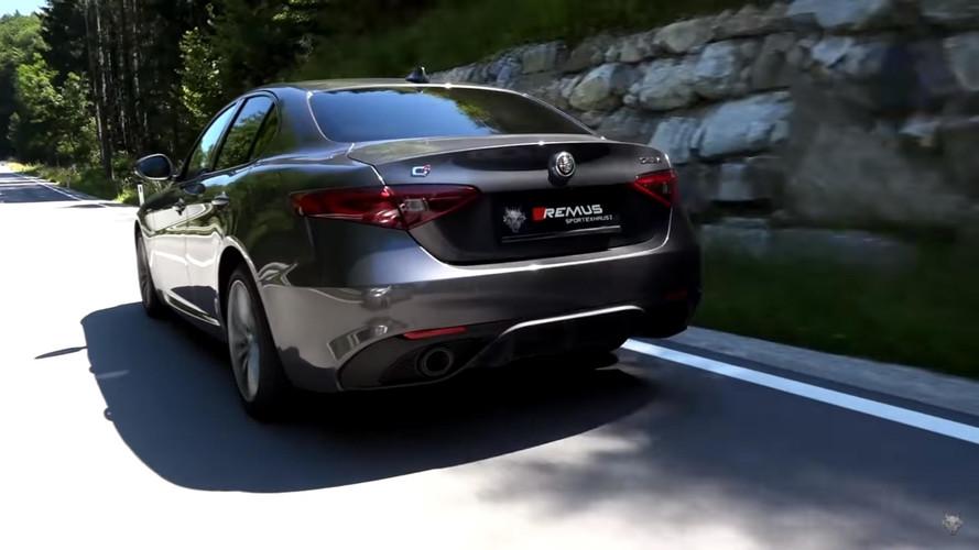 VIDÉO - Un échappement Remus pour l'Alfa Romeo Giulia Veloce