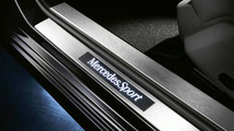 MercedesSport stainless steel door entry panels illuminated in white and bearing the MercedesSport logo 23.02.2010