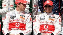 Jenson Button (GBR), Lewis Hamilton (GBR), Bahrain Grand Prix, 14.03.2010 Sakhir, Bahrain