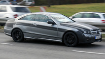 Mercedes E-Class Coupe spy photos