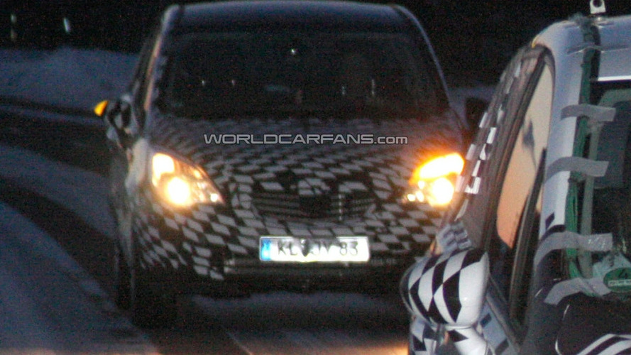 Opel Meriva Spied Showing Front and Rear Lights